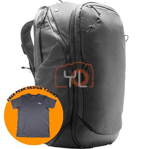 Peak Design Travel Backpack 45L_Black (Free Peak Design T-Shirt)