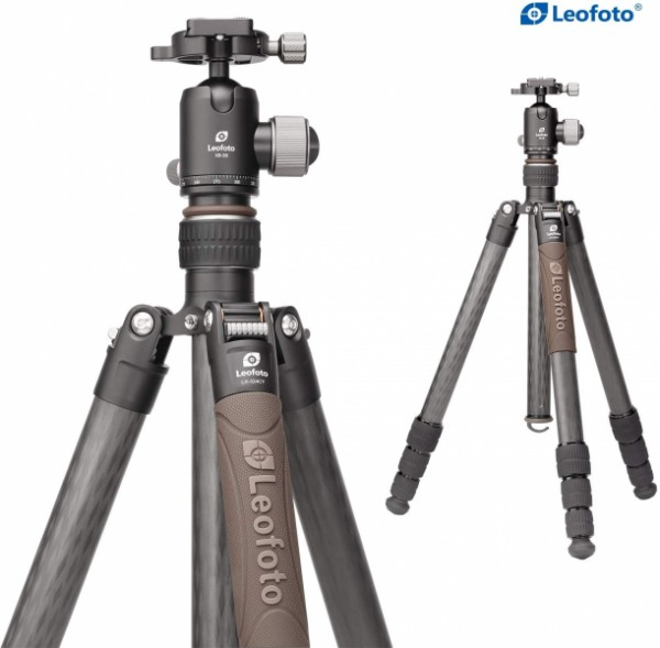 Leofoto Urban LX-324CT+XB-38 4 Section Compact Carbon Fibre Tripod w/ Ball Head