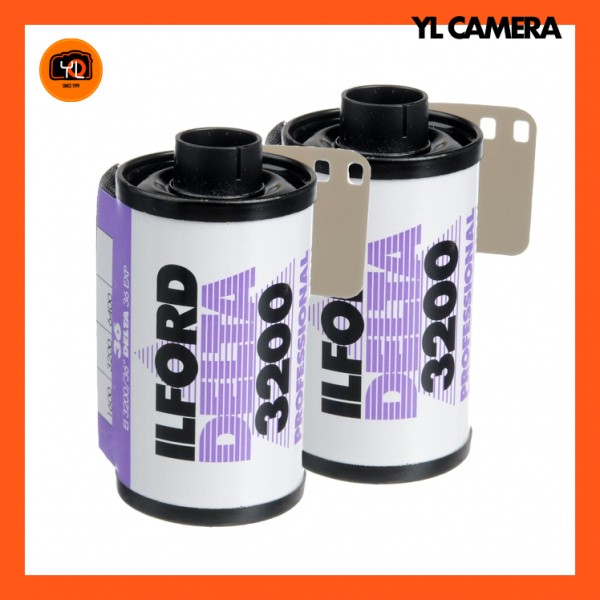 Ilford Delta 3200 Professional Black and White Negative Film (35mm Roll Film, 36 Exposures) – Pack of 2