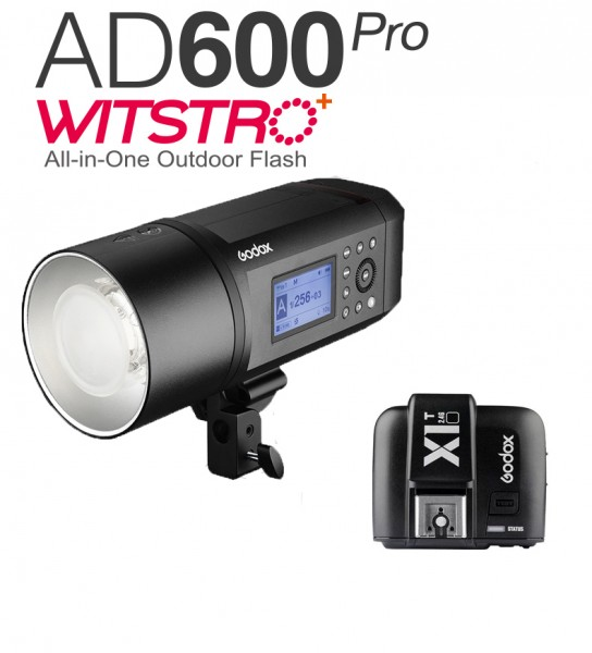 Godox AD600Pro Witstro All-In-One Outdoor Flash X1T-N Fro Nikon Combo Set