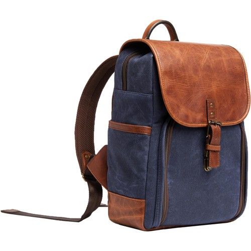 ONA Monterey Backpack (Navy and Antique Cognac)
