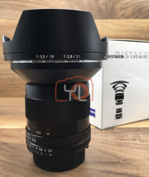 [USED @ YL LOW YAT]-Zeiss 21MM F2.8 Distagon T* ZF.2 For Nikon,95% Condition Like New,S/N:15941359