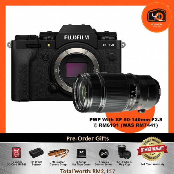 (Pre-Order) Fujifilm X-T4 - Black [With XF 50-140mm F2.8]