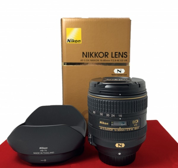 [USED-PJ33] Nikon 16-80MM F2.8 E VR DX AFS, 95% Like New Condition (S/N:242998)