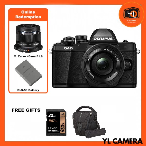 (Promotion) Olympus OM-D E-M10 Mark III + M.Zuiko 14-42mm EZ – Black [Free Lexar 32GB 95MB SD Card + Benro ELZ10 Camera Bag] [Online Redemption 45mm F1.8 + Extra Battery]
