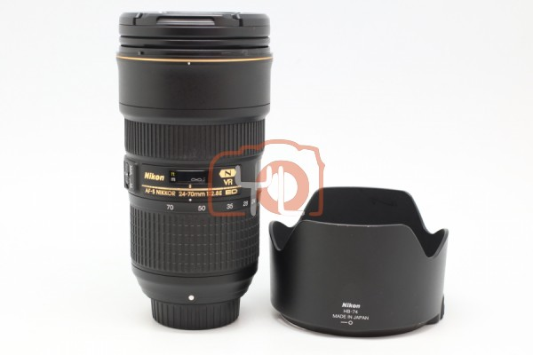 [USED-PUDU] Nikon 24-70MM F2.8E AFS VR ED Lens 95%LIKE NEW CONDITION SN:2024874