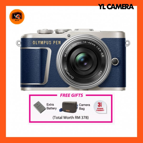 (CNY Offer) Olympus E-PL9 +  M.Zuiko 14-42mm EZ (BLUE)  [Free Online Redemption Extra Battery & Camera Bag Worth RM378]