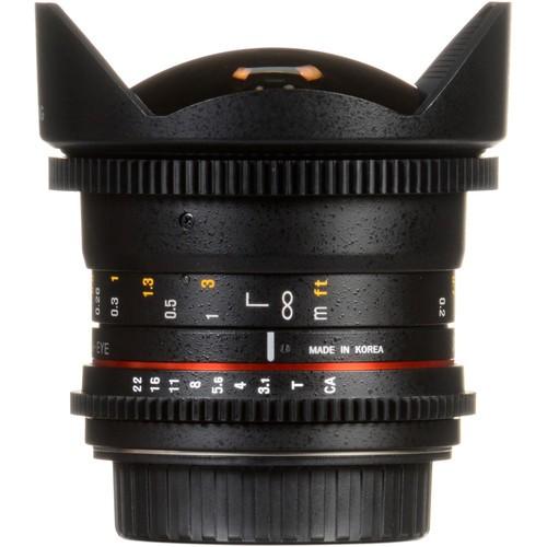 Samyang 12mm T3.1 VDSLR Cine Fisheye Lens for Fujifilm X- Mount