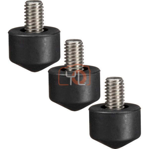 Gitzo 33mm Interchangeable Rubber Foot (Set of 3)