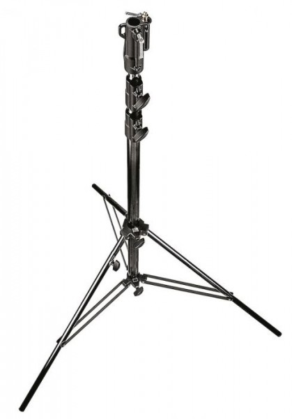 Manfrotto 126BSU Heavy Duty Steel Cine Stand, Black - 11' (3.3m)