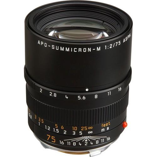 Leica 75mm F2 APO-Summicron-M ASPH. - Black (11637)