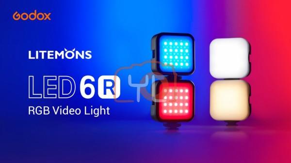 Godox LED6R Litemons RGB Pocket-Size LED Video Light (RGB & 3200 to 6500K)