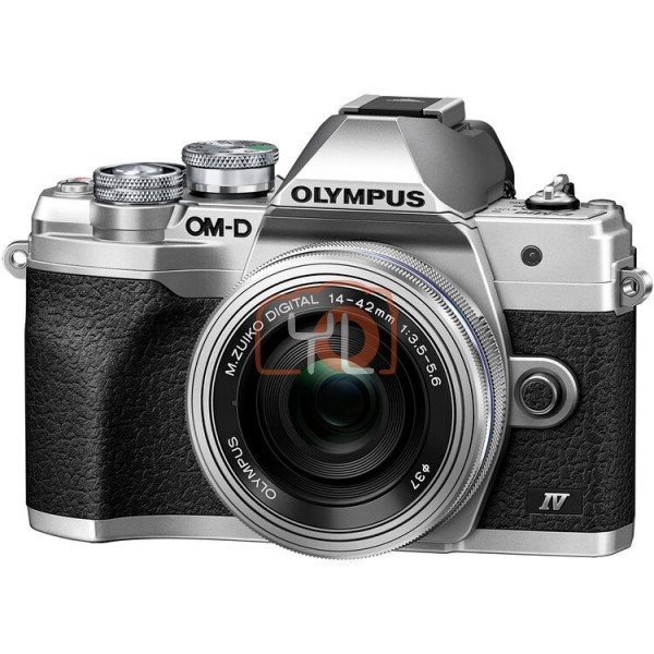 Olympus OM-D E-M10 Mark IV + M.Zuiko 14-42mm EZ – Silver (Online Redemption: Extra Battery + Camera Bag)