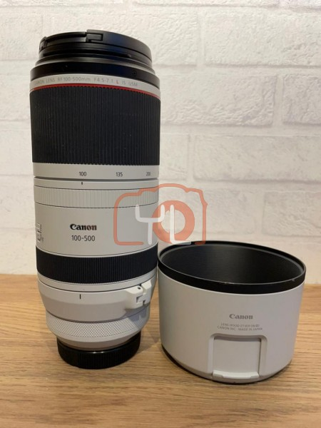 [USED-PJ33] Canon 100-500mm F4.5-7.1 RF L IS USM Lens 90% new, SN:9404001455