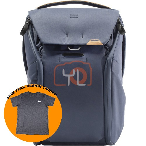 Peak Design Everyday Backpack 20L_Midnight V2 (Free Peak Design T-Shirt)
