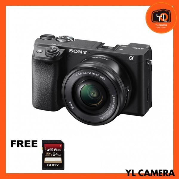 Sony a6400 (Black) + E PZ 16-50mm F3.5-5.6 OSS [Free Sony 64GB SD Card]