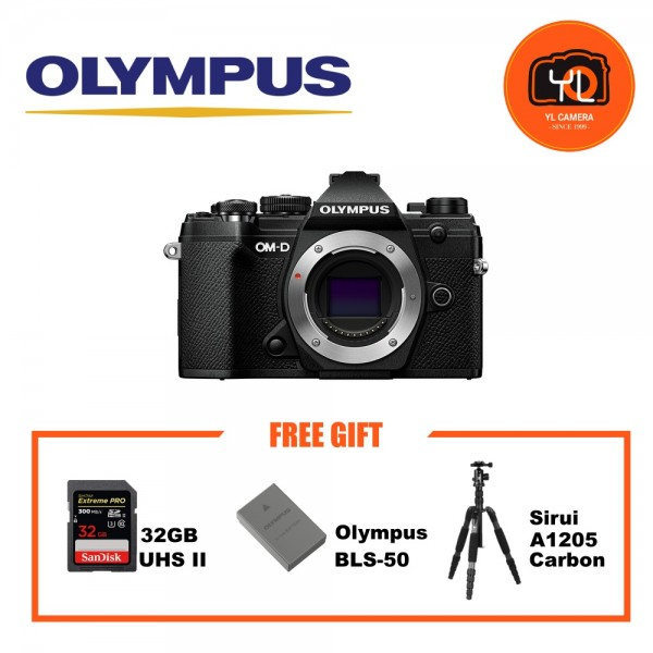(Promotion) Olympus OM-D E-M5 Mark III - Black (Free Lexar 64GB SD Card 150MB/s)