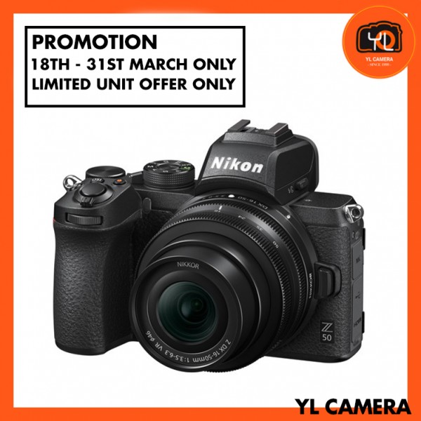 (Promotion) Nikon Z 50 Camera + DX 16-50mm F3.5-6.3 VR (Free 32GB ExtremePro SD Card + Camera Bag)