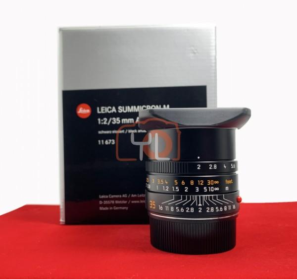 [USED-PJ33] Leica 35mm F2 Summicron-M ASPH II (11673,) 99% Like New Condition (S/N:4742766)