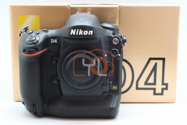 [USED-PUDU] Nikon D4 Body 90%LIKE NEW CONDITION SN:2028693 (Shutter Counter:13k)