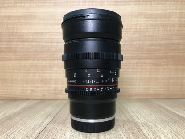 [USED @ YL LOW YAT]-Samyang 24mm T1.5 VDSLR II Cine Lens For Sony E-mount,90% Condition Like New,S/N:BKP24894
