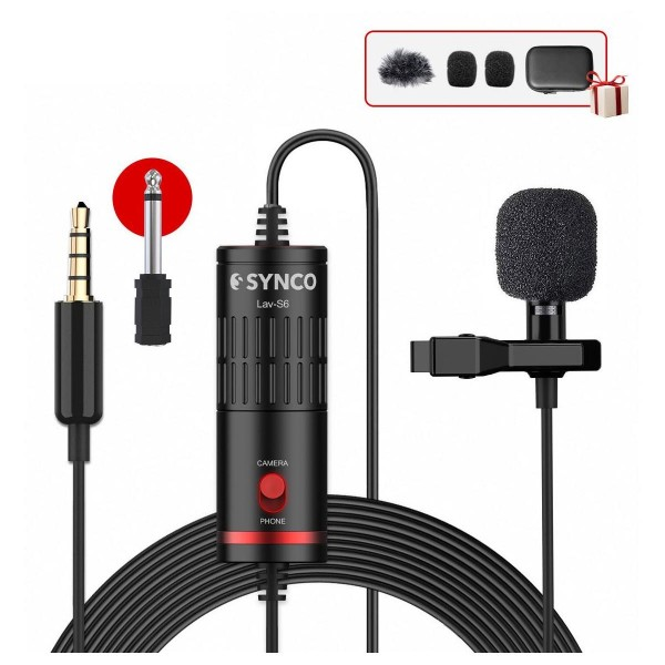 Synco Audio LAV-S6 Clip-On Omnidirectional Condenser Microphone