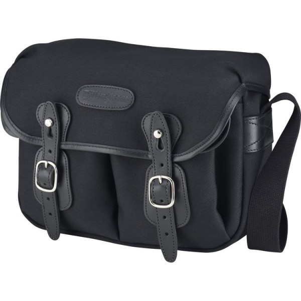 Billingham Hadley Shoulder Bag Small (Black with Black Leather Trim)
