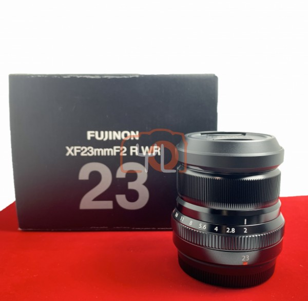 [USED-PJ33] Fujifilm 23mm F2 R WR XF , 95% Like New Condition (S/N:8CB04632)