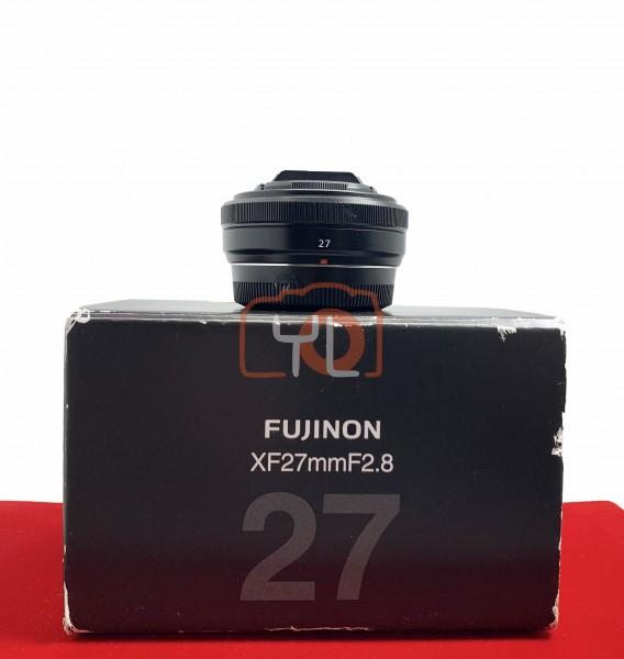 [USED-PJ33] Fujifilm 27MM F2.8 XF Lens (Black), 90% Like New Condition (S/N:33A25434)